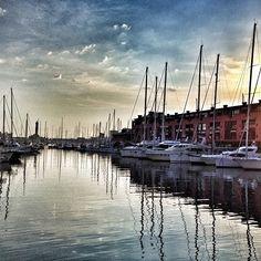 Sunset at the Marina, Genoa