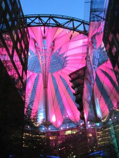 I'm in love with the Sony Center architecture at Potsdamer Platz. There is a huge cinema there showing movies in VO (EN). I'm in awe each time.