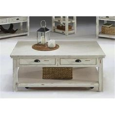 Progressive Furniture Willow Distressed White Rectangular Cocktail Table On SALE Apartment Furniture, Table Furniture, Home Furniture, Comfortable Couch, Coffee And End Tables, Occasional Tables, Home Planner, Design Your Dream House, 3d Home