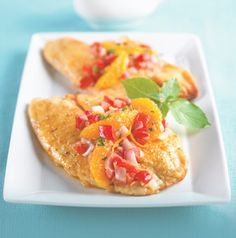 Think you don't like fish? Try tilapia! It's sweet and mild. Orange sauce with red bell peppers and shallots is the perfect accompaniment.