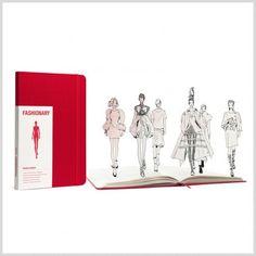 FASHIONARY WM RED SKETCHBOOK