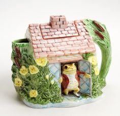 Beatrix Potter Jeremy Fisher Teapot The Cottage Shop Cute Frogs, Frog And Toad, 3d Prints, Block Prints, Beatrix Potter, In Kindergarten, Clay Crafts, Clay Art, Tea Set