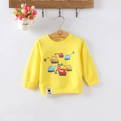 Baby Girls Cotton Hoodied T-Shirt – gagokid Baby Boy Outfits, Kids Outfits, Kids Boys, Baby Boys, Toddler Girl Style, Girls Blouse, Hoodies, Sweatshirts, Boy Or Girl