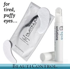 While sunglasses might hide your tired eyes, BeautiControl's BC Spa Solutions Under Eye Dark Circle & Puffiness Solution and Platinum Regeneration® Rejuvenating Eye Treatment will help reduce the appearance of dark circles and puffiness so you can enjoy your weekend, no shades needed!