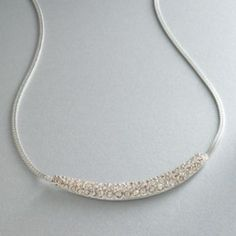 Trifari Silver Tone Simulated Crystal Necklace