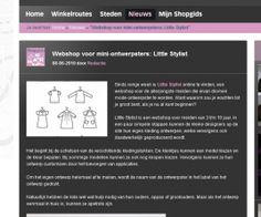 www.littlestylist.com: de webshop voor de allerjongste modeontwerpster in Shopgids.  Meisjeskleding: customize hier je eigen jurk, tuniek of schooltas.