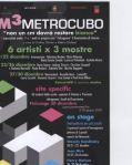 Al Fuoricentro METRO CUBODal 19 al 30 dicembre mostre di artisti under 30 provenienti da tutta Italia, musica e teatro fotografia pitturae videoproiezioni in Livorno.  CONCORSI E MOSTRE L'evoluzione.