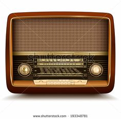 Radio retro, realistic vector illustration. by cobalt88, via Shutterstock