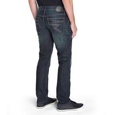 Men's Rock & Republic® Stretch Straight Slim-Fit Jeans, Size: 36X34, Dark Blue