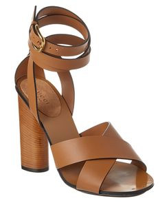 Gucci Candy Leather & Suede Ankle Wrap Mid Heel Sandal is on Rue. Shop it now.