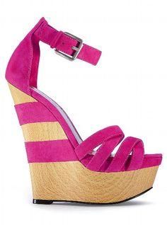 Striped Back Wedge Sandal, Victoria Secret