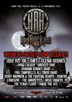 Hard Rock Hell X takes place in Wales, November 10-13, 2016, and several bands have now been confirmed for the lineup. Glenn Hughes, Ugly Kid Joe, and Ratt are headlining, with several other bands ...