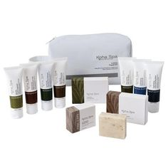 Koha Spa Luxury Travel Kit New Zealand made hair and body care – www.themotelshop.co.nz Luxury Spa, Luxury Travel, Travel Kits, How To Make Hair, Toiletry Bag, Travel Essentials, Body Care, Soap, Place Card Holders