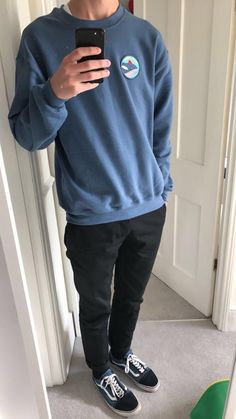 streetwear - Esteban was eaten, life aquatic patch Boy Outfits, Casual Outfits, Men Casual, Fashion Outfits, Vans Outfit, Vans Old Skool Outfit, Vans Old Skool Mens, Style Masculin, Next Fashion