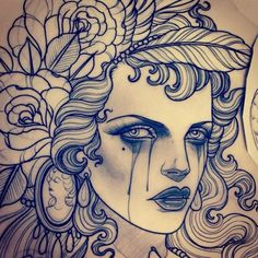 Supersonic Art: The tattoo sketches of Emily Rose Murray. Tattoo Drawings Tumblr, Rose Tattoos Tumblr, Pop Art Tattoos, Trendy Tattoos, Tattoo Sketches, Cool Drawings, Drawing Sketches, Cool Tattoos, Tattoo Art