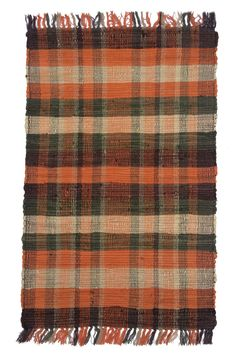 Country Tangerine Area Rug