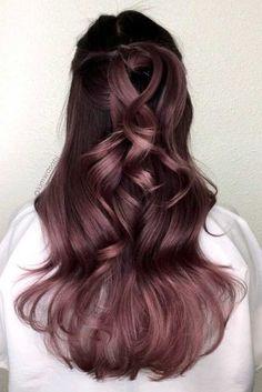 cheveux lilas avec un gout en chocolat : les plus beaux modèles à suivre | Coiffure simple et facile