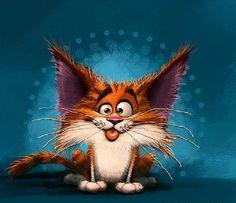 Рыжие коты разных художников, а также открытки, понятные поклонникам котиков - Все интересное в искусстве и не только.