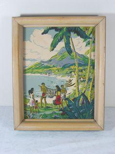 Vintage Hawaii Print TIKI Bar