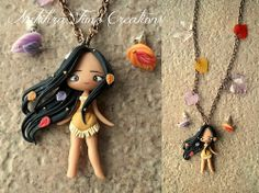 Polymer Clay Chibi Pocahontas from Poahontas Pendant Charm