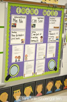 Mrs. Wills Kindergarten: Peek at My Week AND classroom tour - focus board