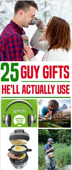 The best gift is one you know your guy will use. So before you stress out at the mall, check out a few of these guy favorites. | gifts for men | guy gifts. #giftsforhim