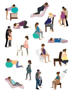 illustrations alternative positions artwork vector labor etsy Alternative Labor Positions Vector Illustrations Artwork EtsyYou can find Childbirth education and more on our website Pregnancy Quotes, Pregnancy Workout, Pregnancy Stages, Labor Positions, Birthing Classes, Delivery Room, Childbirth Education, Prenatal Yoga, Birth Photography