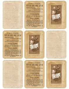 """Torn Paper Tags ~ Neutrals"" ~ free vintage printable"