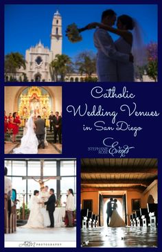 San Diego has some of the most beautiful Catholic parishes in the country. Unfortunately, most of the parishes do not have ample facilities to host a dinner wedding reception. Below are our favorit…