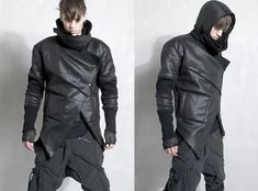 designer fashion demobaza men's leather jacket - How To Forge Mode Cyberpunk, Cyberpunk Fashion, Young Fashion, Dark Fashion, Mens Fashion, Raver Girl, Space Fashion, Fashion Design, Futuristic Outfits