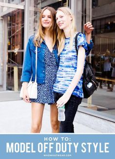 How to dress like your favorite off duty model // #Style #Fashion