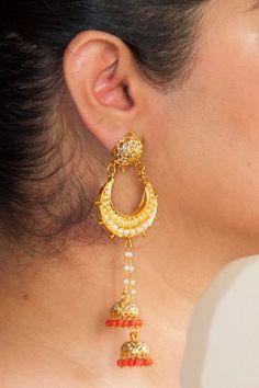 Fashion Earrings | Jhumkas | Chandballis | IndiaInMyBag.com #IndianJewellery #OnlineShopping