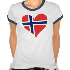 Norwegian Flag Heart Tees