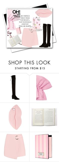 """""""Spring trend : Off the shoulder top & over the knee boots"""" by ane-56 ❤ liked on Polyvore featuring Stuart Weitzman, STELLA McCARTNEY, Victoria's Secret and Edie Parker"""