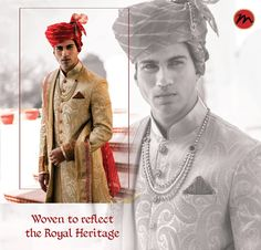 In grandeur you belong and poised you shall always stay. Heritage wear for the regal and princely Indian Man. #manishcreations #IndianWear #heritagewear #poisedtoperfection #royalcharm