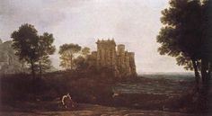 Claude Lorrain Landscape with Psyche outside the palace of Cupid