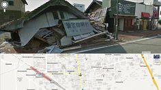 VISITORS to Google Maps can see an abandoned town devastated when a tsunami crippled Japan's Fukushima nuclear plant two years ago.
