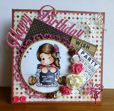 Happy Birthday met Tilda gemaakt door Mieke