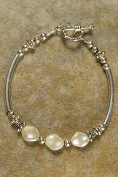 Pulcera plata y perla