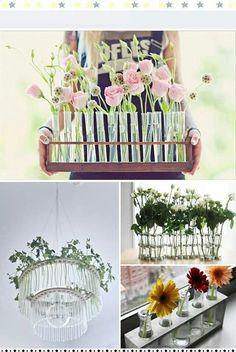 Arreglos flores vintage.