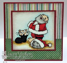 """High Hopes Stamps: Jolly Old St Nick by Lacey using  """"Jolly Old St Nick"""" (T037) It is also currently part of one of the Club Packs (CP007)"""