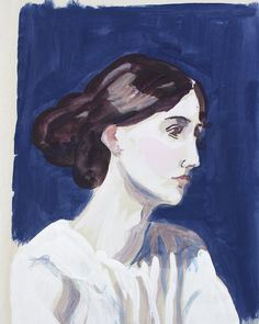 Painted Portrait 1 Virginia Woolf 42x29cm £75