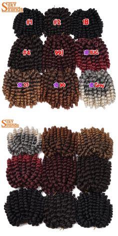Silky Strands 9Colors 6'' Wand Curl Crochet Hair Extensions 3Packs/Lot Bounce Jamaican Twist Low Temperature Fiber Havana Mambo