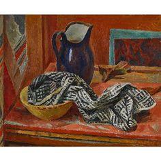 Alexandre Blanchet - Le Pot bleu, 1956 - Huile sur toile, 50 x 61 cm.