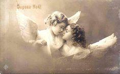 vintage postcard angels