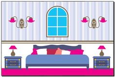 vector clipart, related with icons. Paper Doll House, Paper Dolls, Paper Houses, House Vector, Ballet Art, Bedroom Prints, House Inside, Barbie House, Home Bedroom