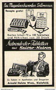 Original-Werbung/ Anzeige 1935 - NATRONDOCTOR / KAISER-NATRON / ARNOLD HOLSTE WWE. - BIELEFELD - Ca. 40 X 60 Mm - Werbung