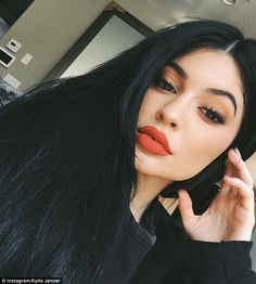 Kylie Jenner, 18, who is never shy about posting her photos on social media held her T. Re...