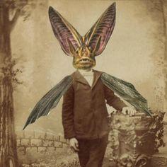 Victorian Gothic Bat Boy Weird Art Vintage Photo by dadadreams