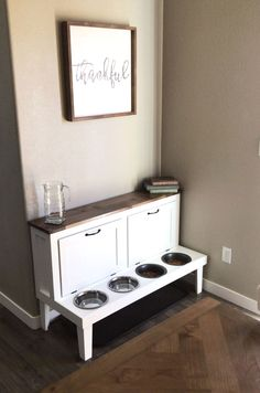 Wooden dog kennels built for one and two dogs for indoor use. Check out our designer dog crate furniture and great dane kennels! Furniture, Home Organization, House Design, House, Home Projects, Home Decor, Crate Furniture, Home Diy, Dog Crate Furniture